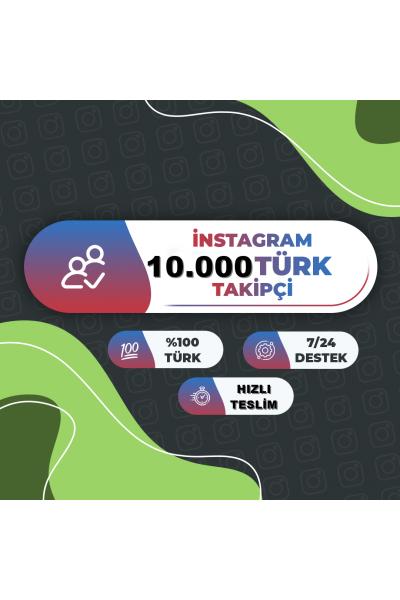 instagram 10.000 Türk Aktif Takipci