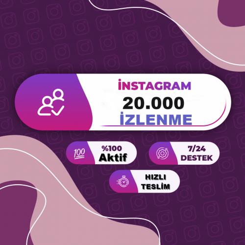 instagram 20.000 Türk İzlenme